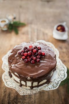 Naked Schoko Kuchen. Chocolate cake, naked chocolate cake. Cakee recipe, Schokoladentorte, Schoko Torte, Torte, Cranberry Schoko Torte, Schichttorte