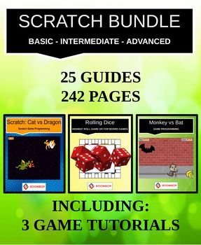 Scratch Bundle: Basics, Intermediate, Advanced (Super Value: 242 pages) - Roombop
