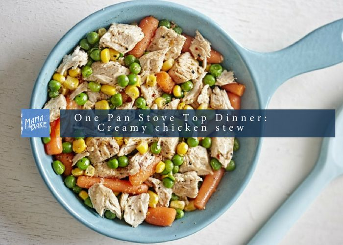 One Pan, Stove Top Creamy Chicken Stew