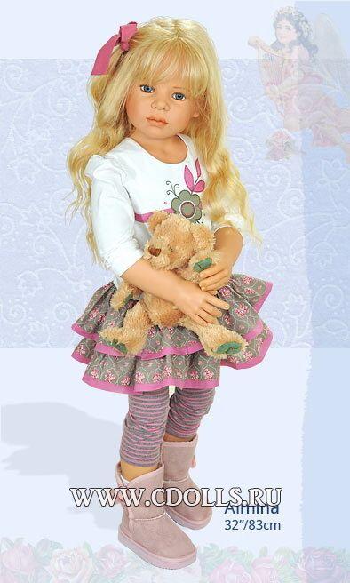 Кукла Алмина 83 см - Интернет магазин Коллекционные куклы СиДоллс / CDolls.ru Кукла Алмина / Коллекционная кукла Хайди Плюсцок  Размер: 83 см / 32 дюйма, Материал: винил  Тело: шарнирное,
