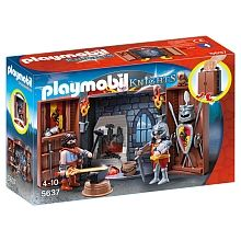 PLAYMOBIL - Aufklapp-Spiel-Box Ritterschmiede - 5637