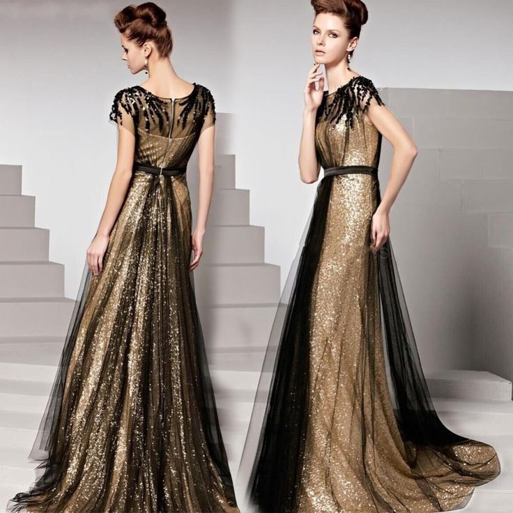 Find More Evening Dresses Information about 2015 Gold Sequins Long Evening Dresses A line Scoop Floor Lenght Sweep Trian Saudi Arabia Dress Luxury Formal Gowns Custom,High Quality gown photos,China dress up wedding gowns Suppliers, Cheap gown dress from ShangNi  High End Wedding Dresses on Aliexpress.com