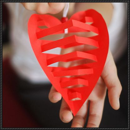3D Papercraft Heart Free Template Download - http://www.papercraftsquare.com/3d-papercraft-heart-free-template-download.html