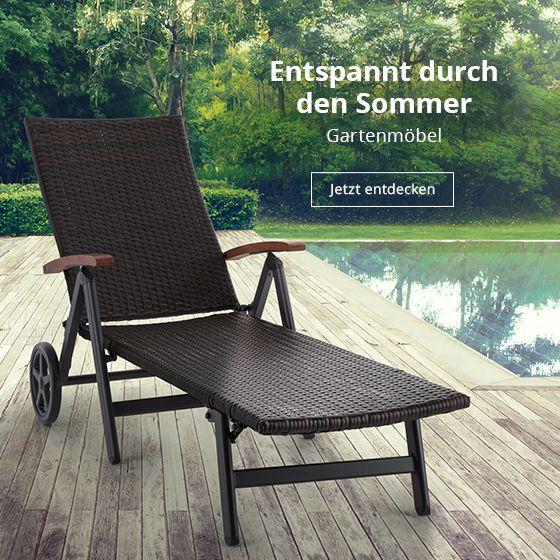 Bequeme Klappliege in mediterranem Look für gemütliche Sitzecken im Garten, auf dem Balkon oder der Terrasse.