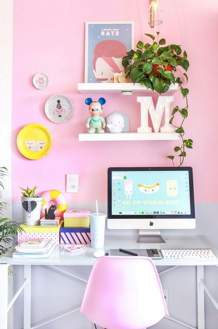 30 nice romantic pink home offices color scheme ideas on office color scheme ideas id=52201