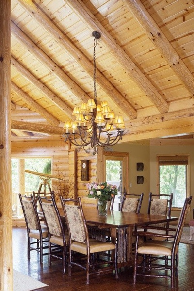 @Brashears Furniture Furniture | Design Services Beautiful Log Home Setting  Designed By @Jacque Skaggs