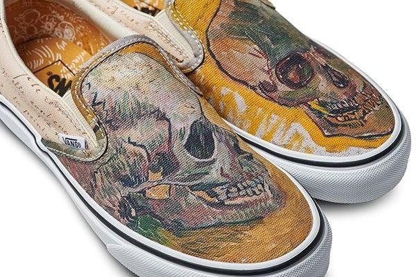 Vans X Vincent Van Gogh Museum Skull Slip On Sneaker Sz 7 5 M 9 0w Vans Vans Slip On Van Gogh Museum