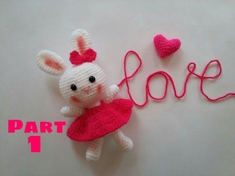 Amigurumi Örgü Oyuncak Tavşan Yapımı - How to Crochet an Amigurumi Rabbit-1 - YouTube