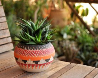 Made to order Ceramic planter pottery Navajo by claykedem on Etsy