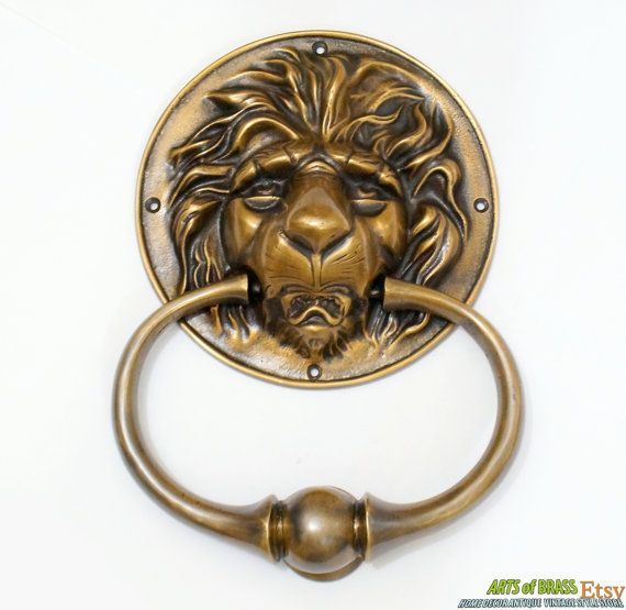 This Listing For 9.64 Inches Vintage Solid Brass Round LION King Head Front  Door KNOCKER With