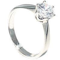 Drømmering, enstensring med en diamant på hele 1 carat i kvaliteten TW/VS
