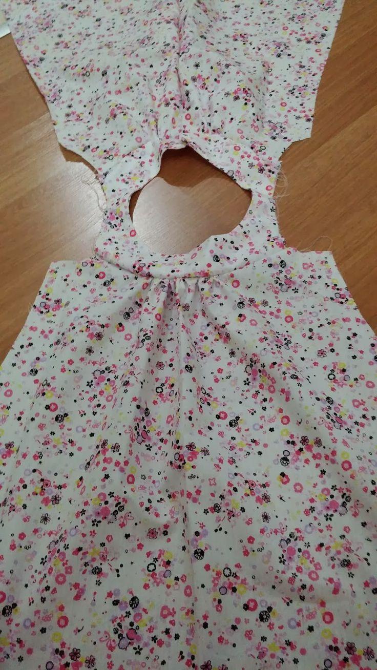 Hobbylst Ilknur...: Bebek Elbisesi Dikimi / How to sew girl dress