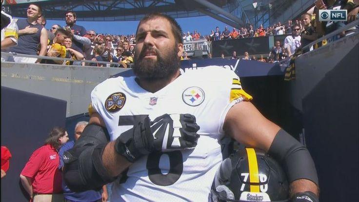 NFL player, Army Ranger veteran Alejandro Villanueva is only Steeler to be on field for U.S. national anthem; rest stay in locker room (VIDEO)