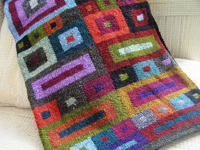 Squares Scarf by Kaffe Fassett  I love Kaffe Fassett...I wish I had the patience to knit one of his designs
