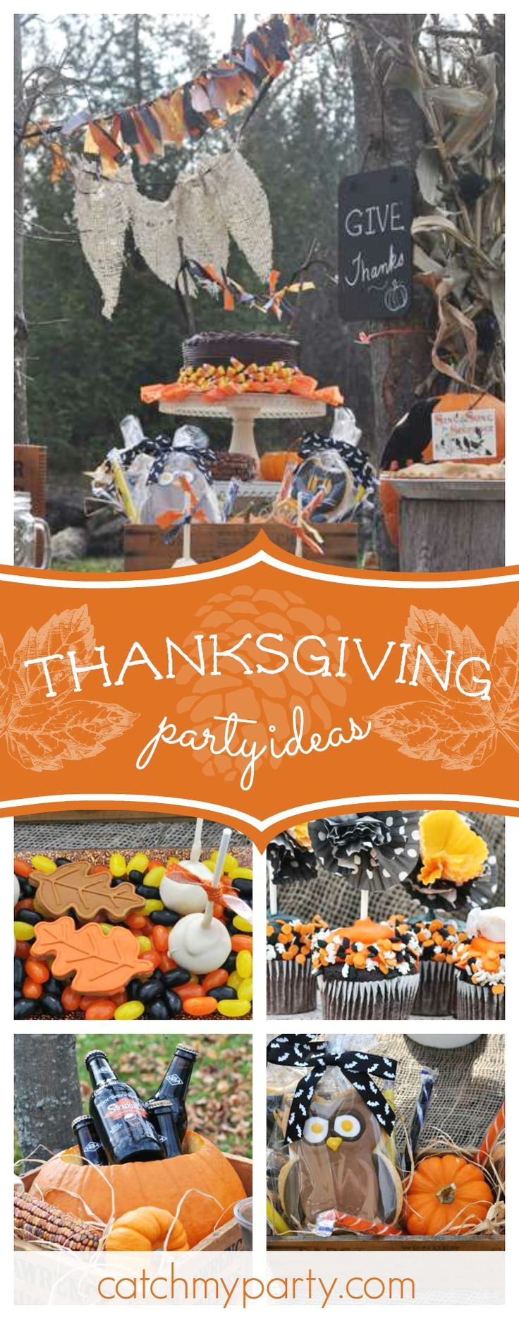 Check out this awesome Thanksgiving celebration! The cookies are wonderful!! See more party ideas and share yours at CatchMyParty.com  #party #thanksgiving
