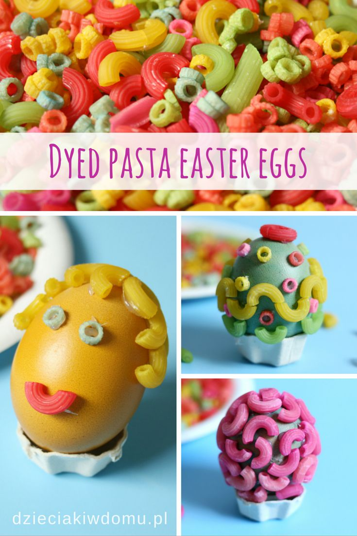 Dyed Pasta Easter Eggs For Kids Food Coloring