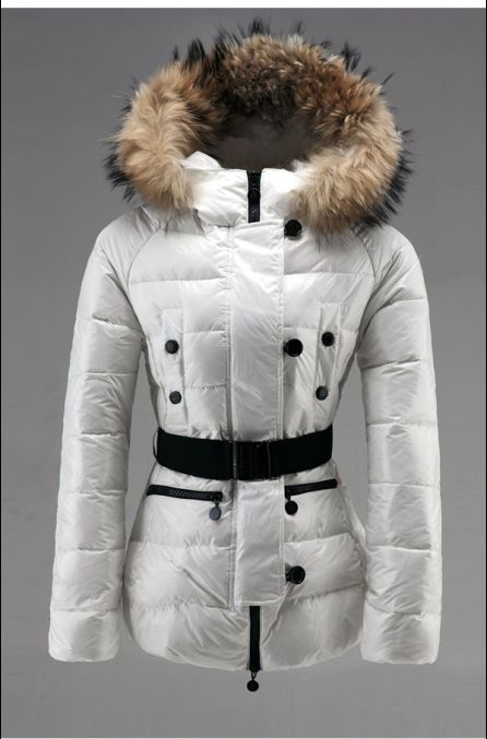 Moncler Jacke - Moncler Gene Damen Fur Collar Jacken Weiß Neue