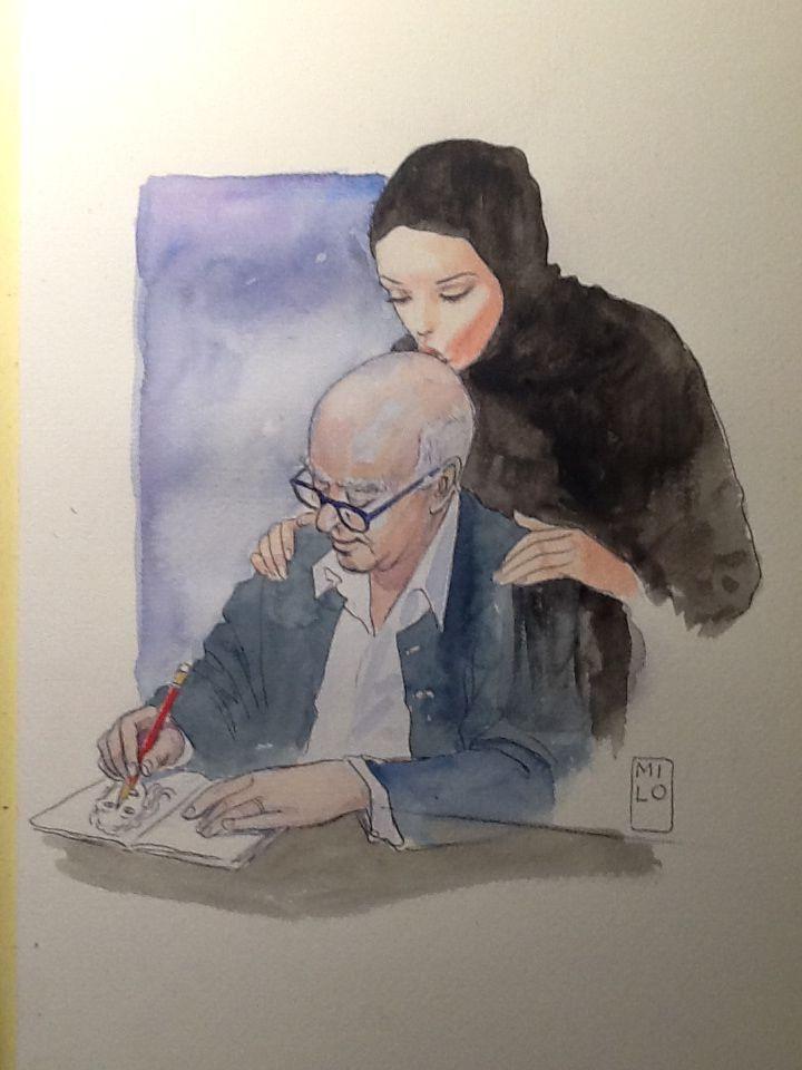 Milo Manara ricorda Wolinsky con una tavola realizzata per il Corriere del Veneto