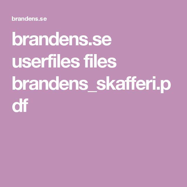 brandens.se userfiles files brandens_skafferi.pdf