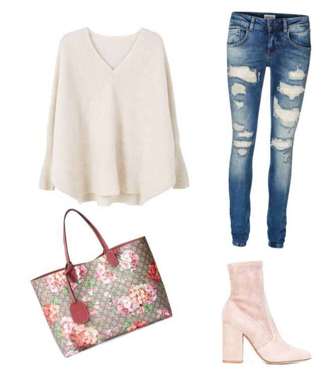 """Untitled #54"" by petricaiacob on Polyvore featuring Gucci, Valentino, MANGO and Vero Moda"