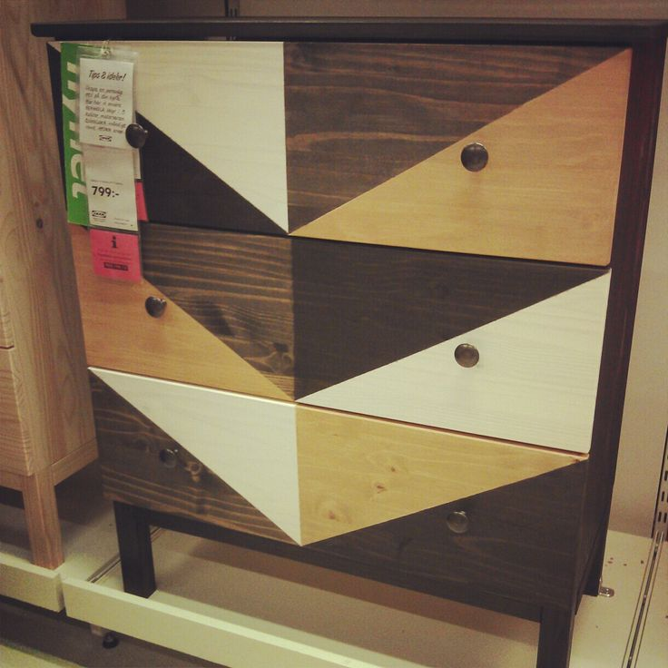 Ikea Tarva dresser painted with wood stain. We WILL be doing this with a 6 drawer dresser!!