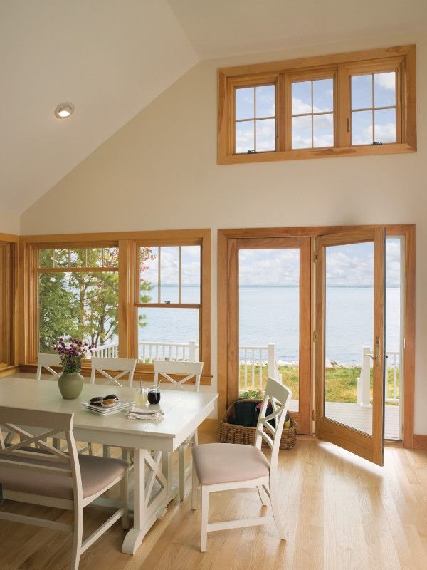 Hinged French Patio Doors And Placement Windows With Custom Grilles By  Renewal By Andersen