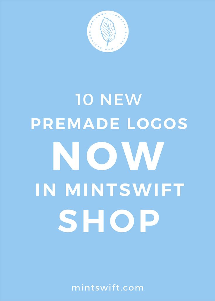 MintSwift premade logos were created with a thought of small business owners, bloggers and creative entrepreneurs. My affordable premade logo options allow you to develop your brand identity at a fraction of the cost of logo package when you just starting out or simply you're not ready for custom logo.