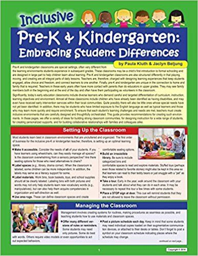 Inclusive Pre-K & Kindergarten: Embracing Student Differences