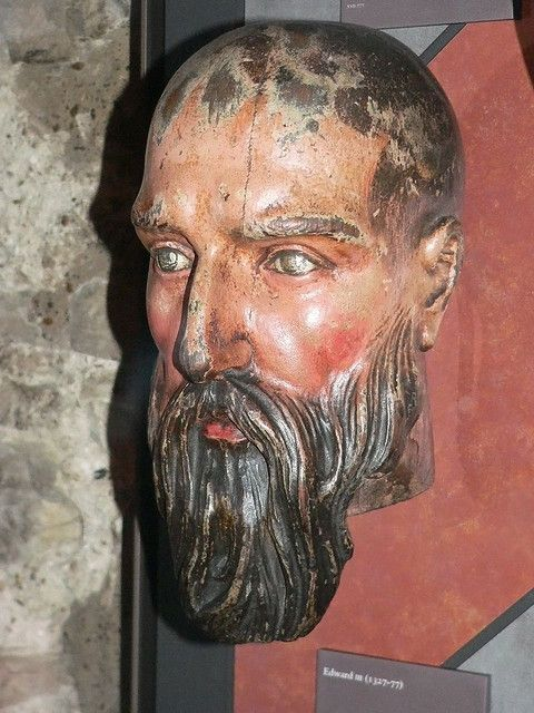 Effigy of King Edward III at the White Tower - the earliest European death mask. Edward III reigned from 1327 to 1377; his surplus of sons eventually led to the conflict between the houses of Lancaster and York for the English throne. 20th G GRANDFATHER