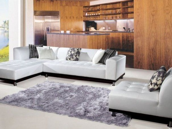 appealing sectional sofas for your home minimalist white colored sectional sofas in l letter shape with chaise fur rug and inviting home ba