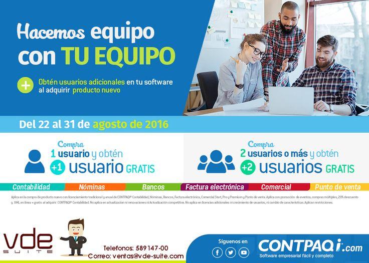 VDESuite y CONTPAQi tienen nuevas promociones para ti. Para mas información acércate a nuestros ejecutivos en venta