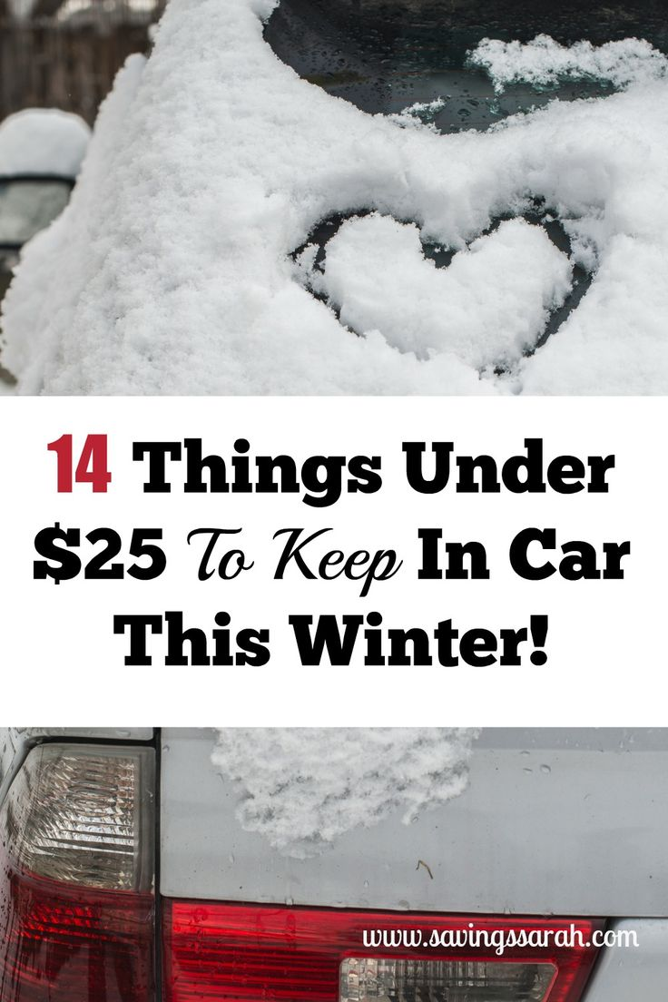 Winter means rapidly changing weather and rough road conditions. Check out these 14 Things to Keep In Your Car This Winter to be prepared for the unexpected.
