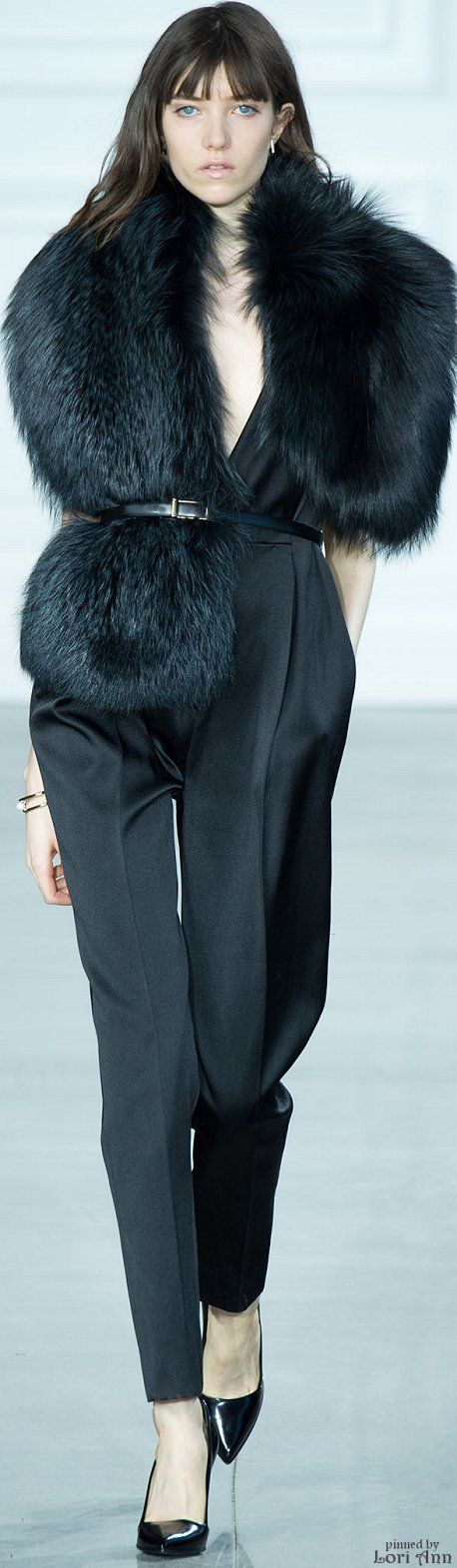 black fox fur stole wrap Jason Wu Fall 2015 RTW