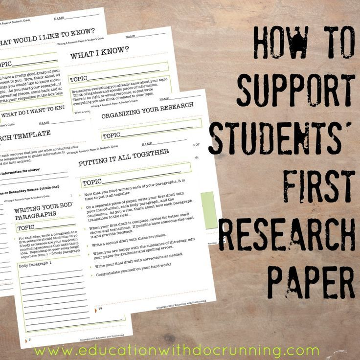 middle school research paper scaffold read