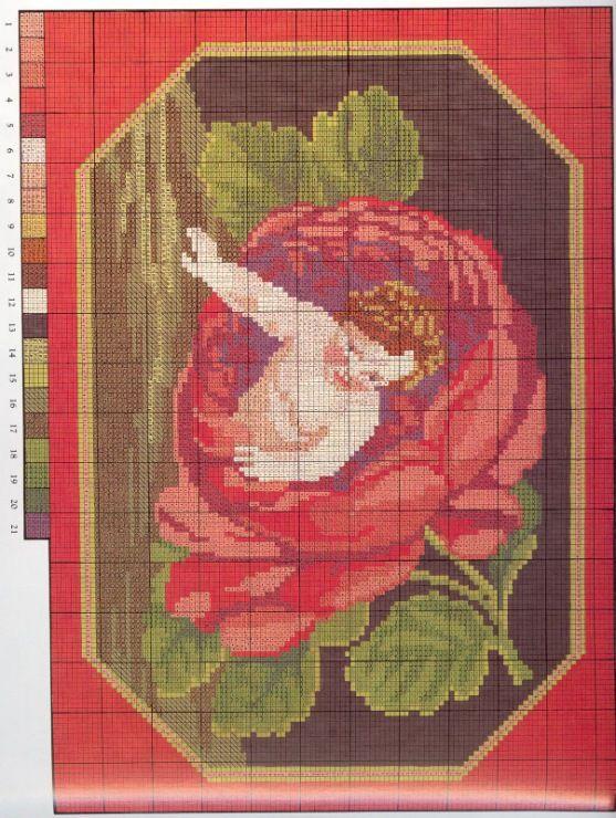 Gallery.ru / Φωτογραφία # 79 - Κεντητική αντίκες λουλούδια - tymannost