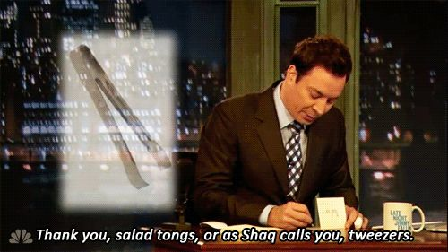 When he gave an inside look at the life of Shaq: | 21 Times Jimmy Fallon's Thank You Notes Said Exactly What You Were Thinking