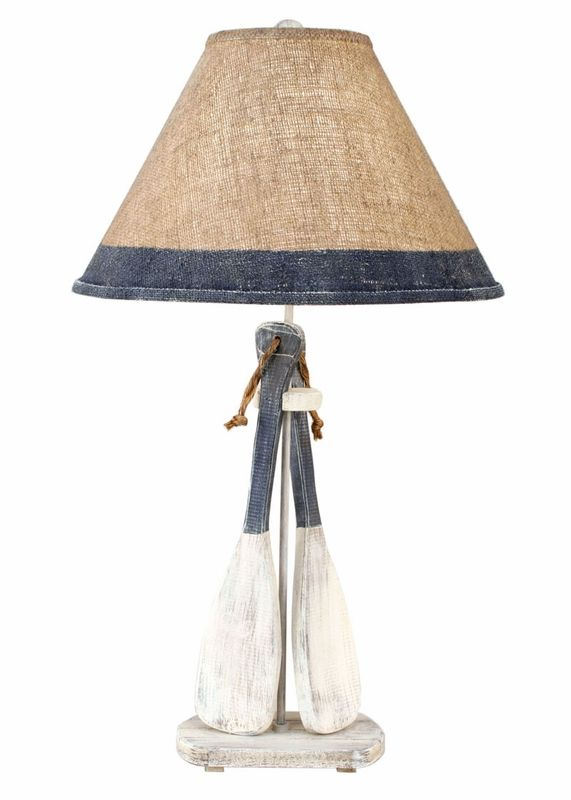 boat paddles table lamp - love this for a nautical nursery!!