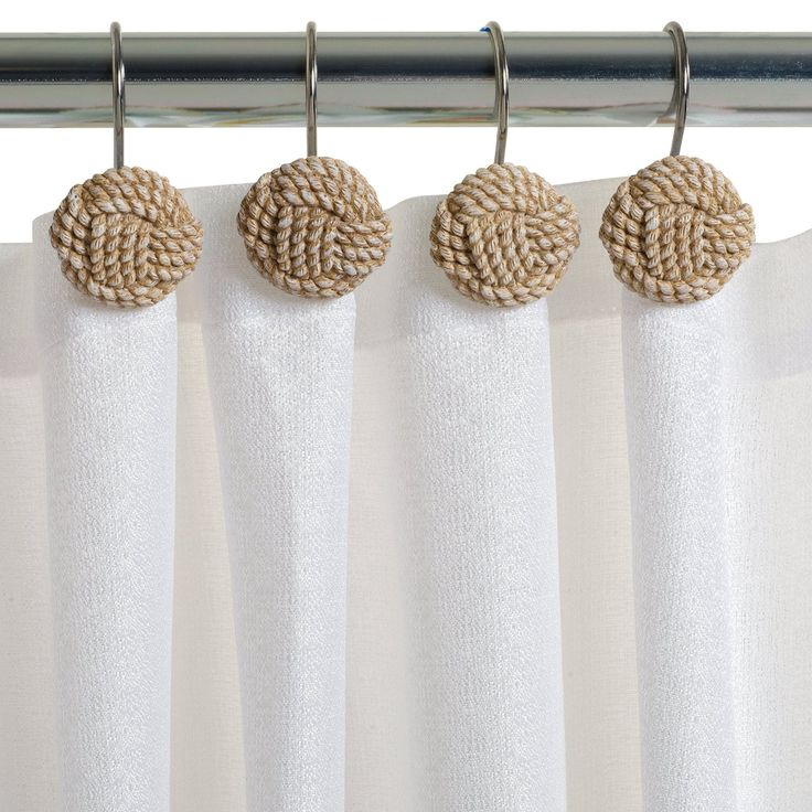 Amazon.com - Zenna Home, India Ink Seaside Serenity Shower Curtain Hooks, Coastal/Beach -