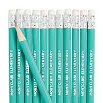 Aqua Personalized Pencils - 13772745