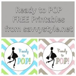 "They're finally here...FREE printables for your next baby shower! We had such a huge response from my previous POST about the ""Ready to POP"" baby shower I threw for my bestie, that I put together t..."