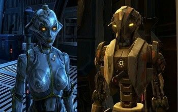 MMORPG.com Star Wars: The Old Republic - A New Playable Race in SWTOR ... The HK droids are stupidly popular. Has been modeled as a companion (SCORPIO). Images may be subject to copyright. Optimystique1