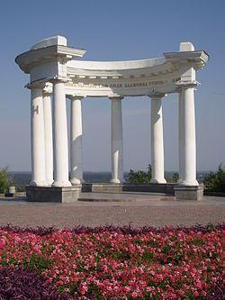 Ротонда дружбы народов или Белая беседка — колоннада в Полтаве, один из символов города.