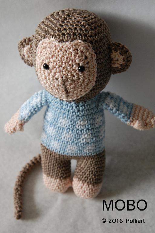 (4) Name: 'Crocheting : MOBO the Monkey Amigurumi Pattern