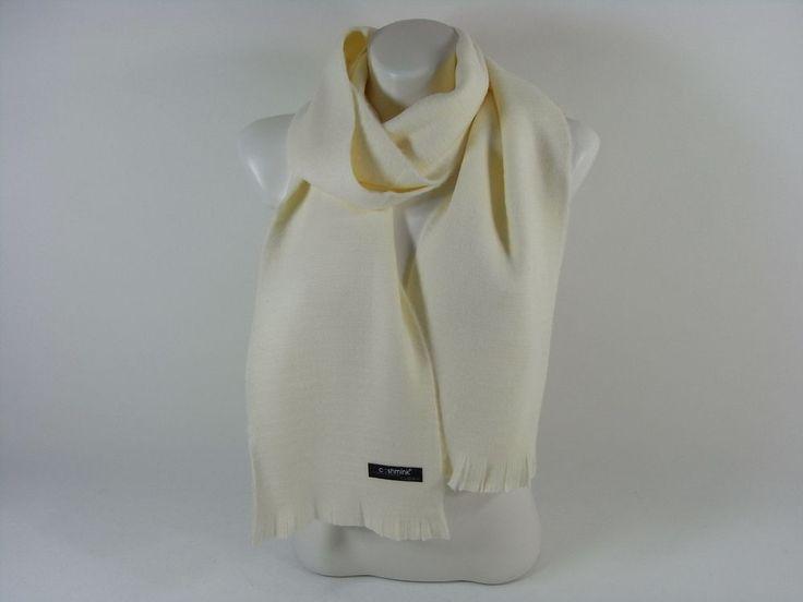 Damenschal weiss warm Cashmink Accessoires Herbst Winter Weihnachten Schal Scarf