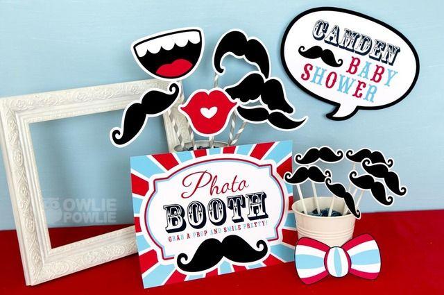 Photo props at a Little Man Mustache Party #littleman #mustacheparty