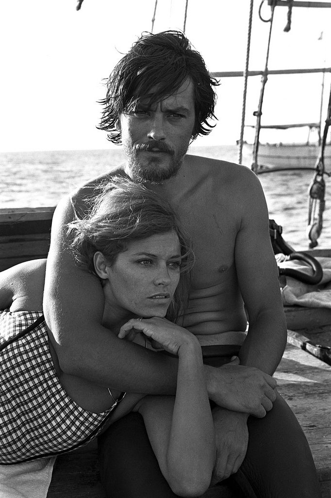 Alain Delon et Nathalie Delon