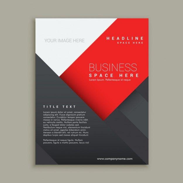 最小限のビジネスパンフレットのテンプレートデザイン 無料ベクター
