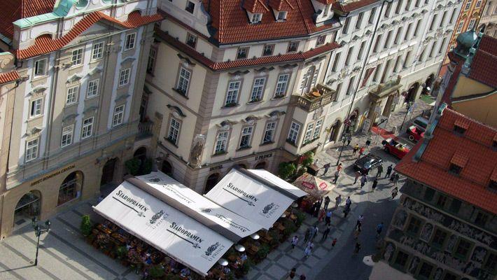 Vedere din turnul Ceasului Astronomic O vacanta in Praga in imagini - galerie foto. Vezi mai multe poze pe www.ghiduri-turistice.info