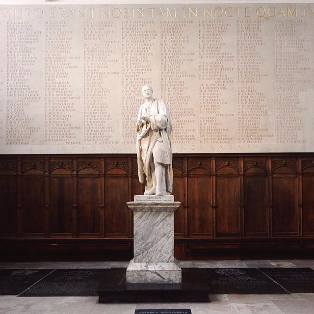 Isaac Newton at Trinity College Chapel  Thank you #Cambridge to be such an amazing place!