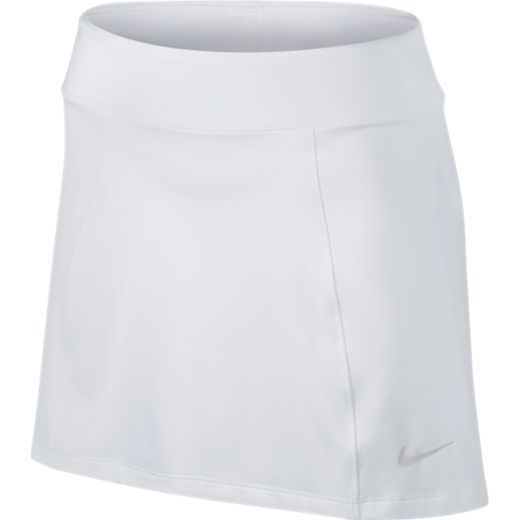 """White Nike Ladies Dry Knit 14.5"""" Pull On Golf Skort! Find the best golf outfits at #lorisgolfshoppe"""
